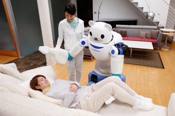 В Японии создали робота в помощь пожилым людям (9 фото)