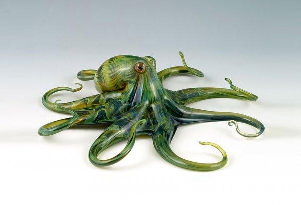 Стеклянные скульптуры Скотта Биссона (9 фото)