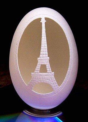 Резные пасхальные яйца, созданные словенским художником Франком Громом (14 фото)