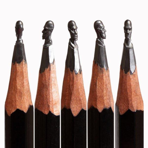Мини-скульптуры на кончике карандаша (19 фото)
