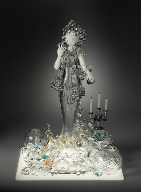 Стеклянные скульптуры американской художницы Кармен Лозар (16 фото)