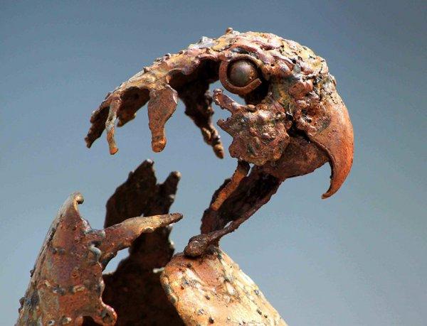 Скульптуры животных из металлолома, созданные Хасаном Новрози в стиле стимпанк (11 фото)