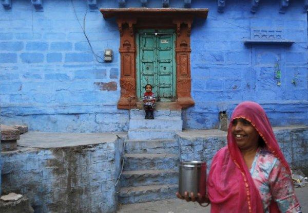 Голубой город Джодхпур (12 фото)