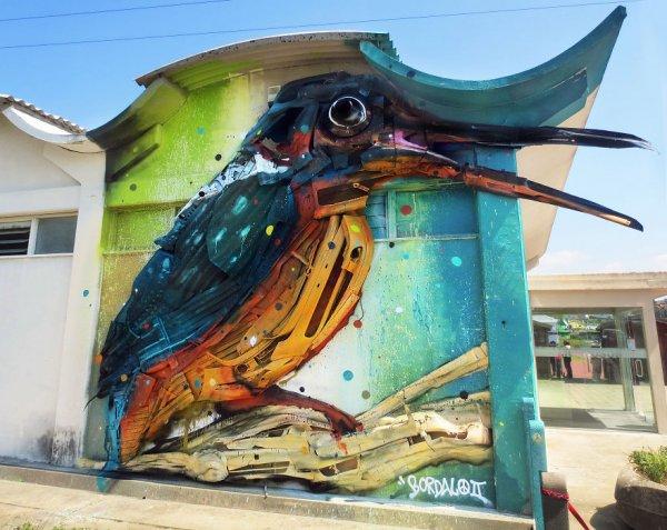 Животные из мусора: арт-проект, привлекающий внимание к проблеме загрязнения окружающей среды (14 фото)