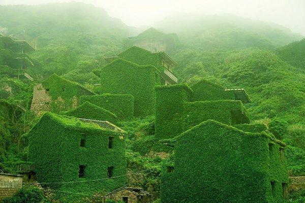 Полностью заросшая заброшенная деревня в Китае (10 фото)