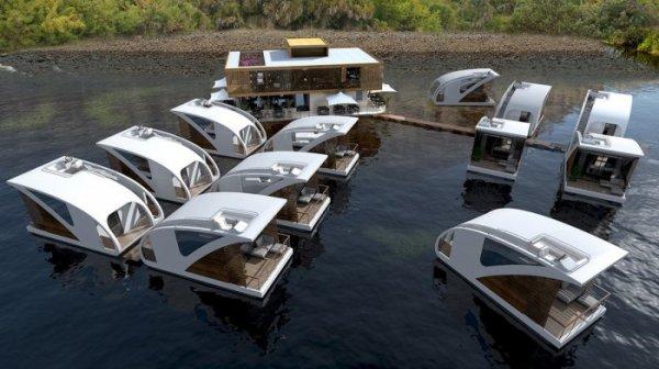 Плавучие номера для отдыха на воде (6 фото)