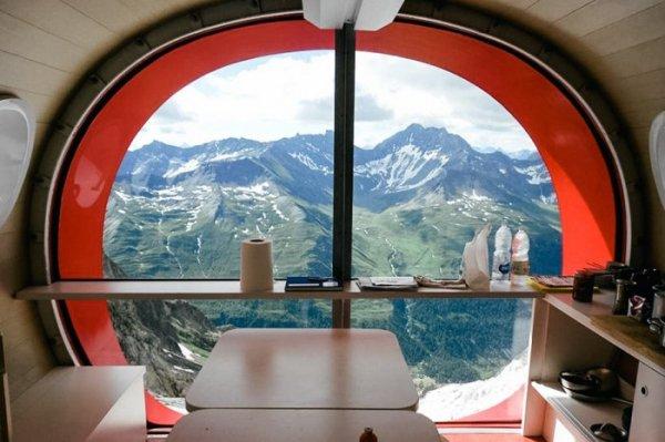 Gervasutti Hut: идеальные дома для горной местности (6 фото)