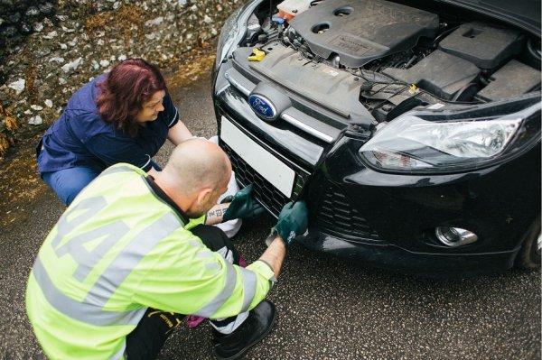 Спасение лисят, забравшихся в мотор автомобиля (13 фото)