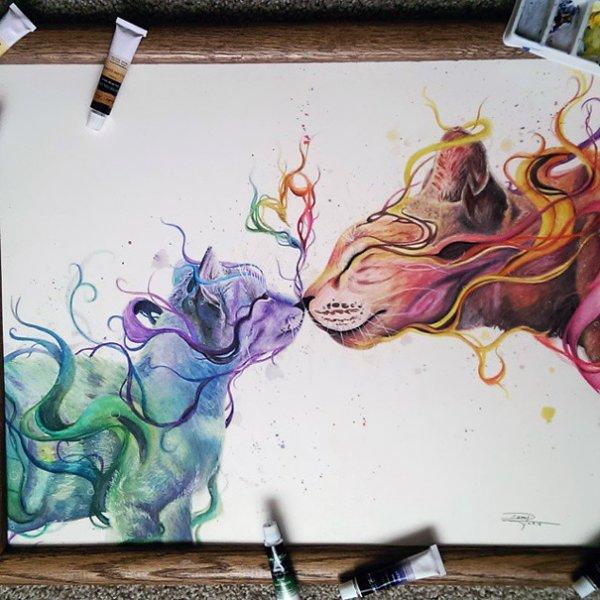 Красочные рисунки юной художницы-самоучки Дэни Лизет (7 фото)