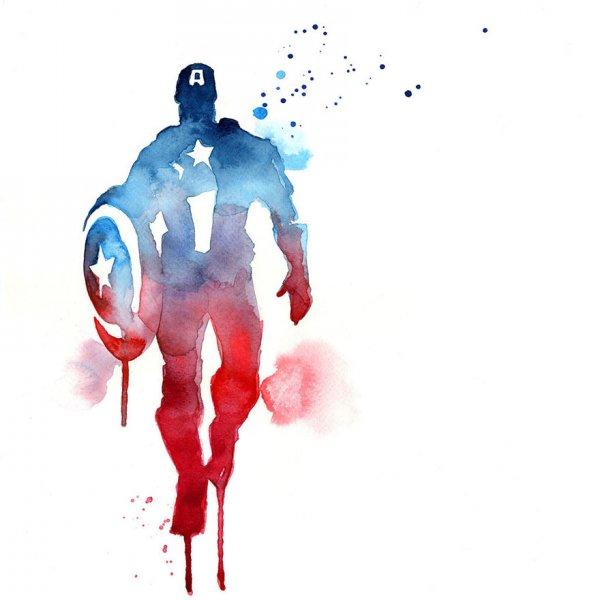 Супергерои в акварельных рисунках художницы Blule (12 фото)