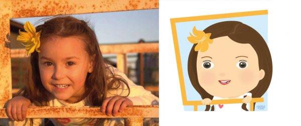 Иллюстрации Марии Хосе Да Луз, перерисованные с детских фотографий (17 фото)