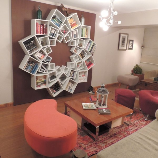 Оригинальные книжные стеллажи и полки (20 фото)