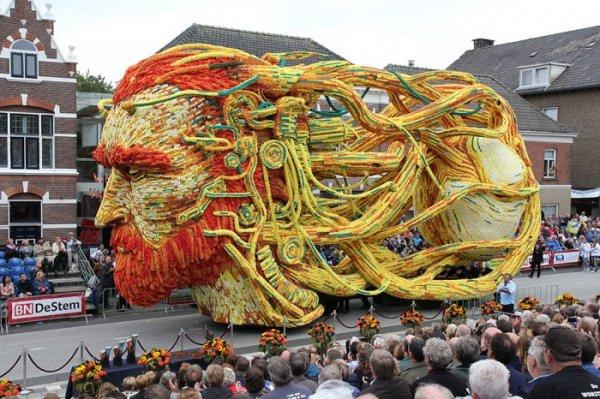 Цветочный парад Bloemencorso Zundert 2015 в Нидерландах (18 фото)