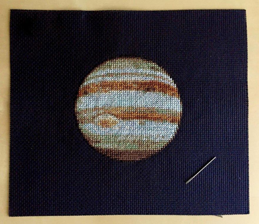 Схемы для вышивки крестом планеты