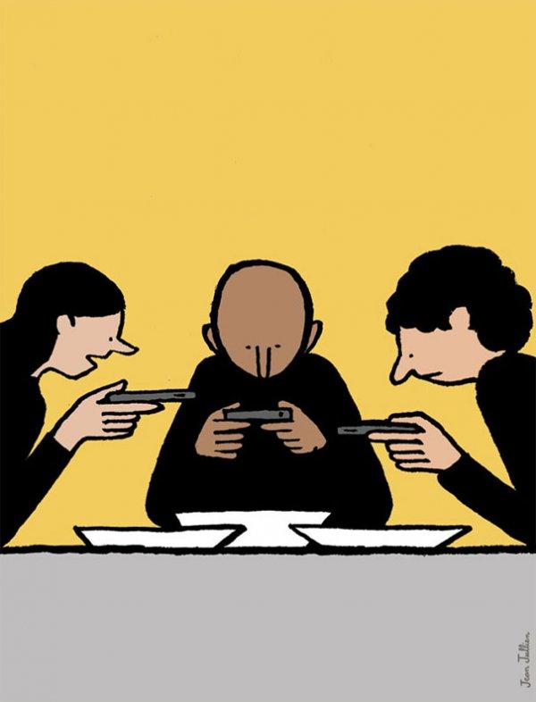 Сатирические иллюстрации о современном обществе (34 фото)