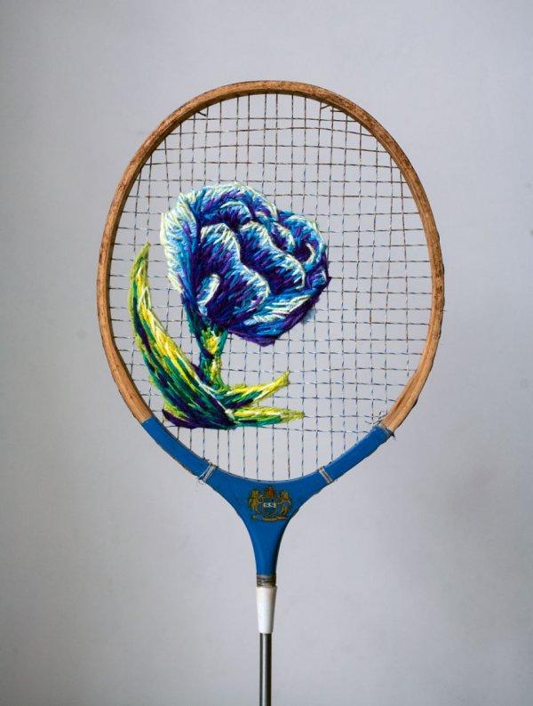 Необычные вышивки на теннисных ракетках (15 фото)