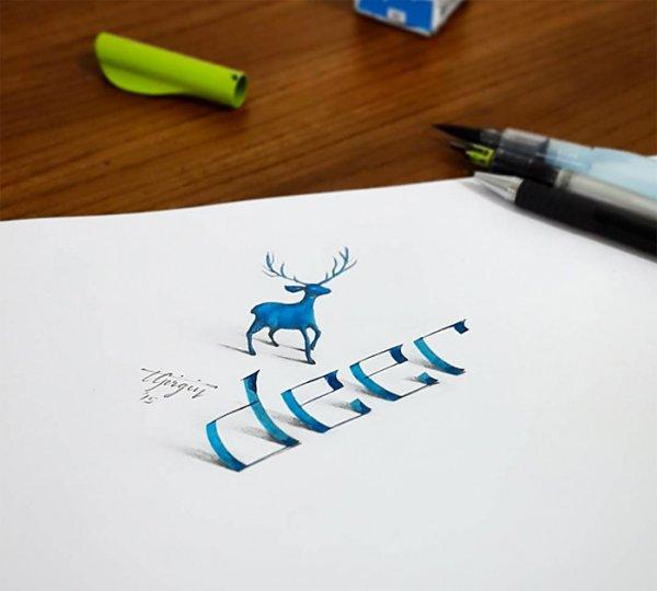 Невероятная 3D каллиграфия: новые иллюзии от Толга Гиргина
