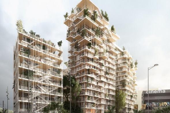 В Бордо построят деревянные башни