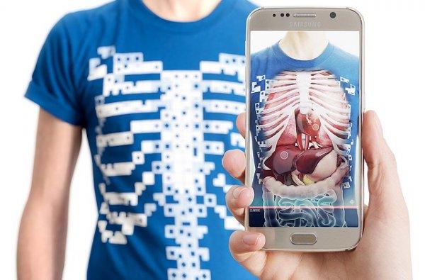 В продаже появятся футболки, позволяющие изучать анатомию человека