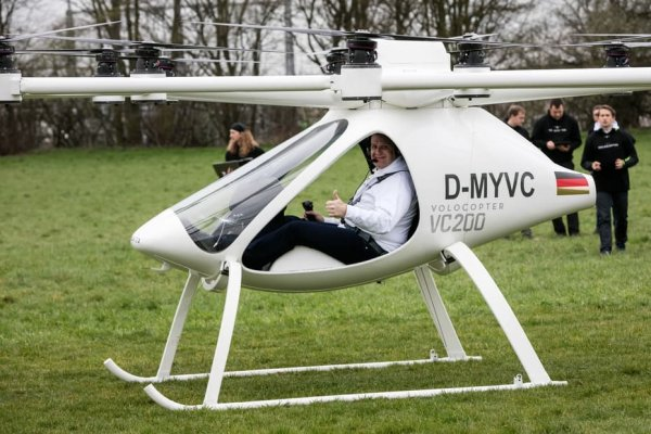 В Германии совершили пробный пилотируемый полёт мультикоптера