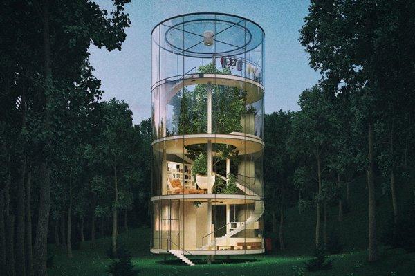В Казахстане построят уникальный дом с деревом в середине