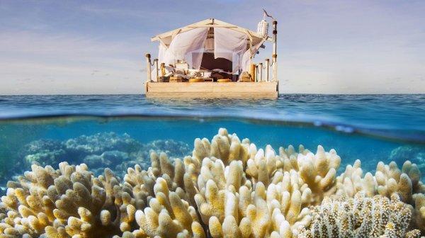 Туристам предлагают бесплатно провести ночь в плавучем доме с видом на рифы