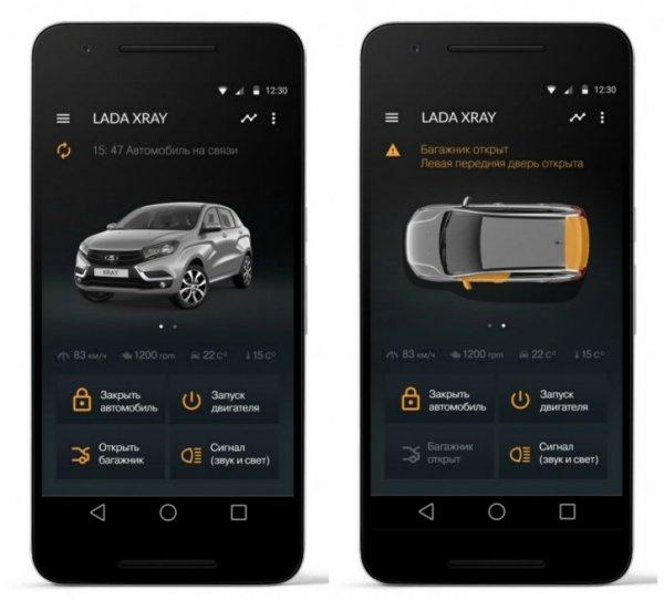 Системами машин LADA будут управлять с помощью умного телефона