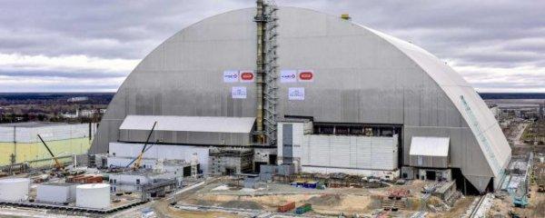 Над Чернобыльским реактором появился новый саркофаг