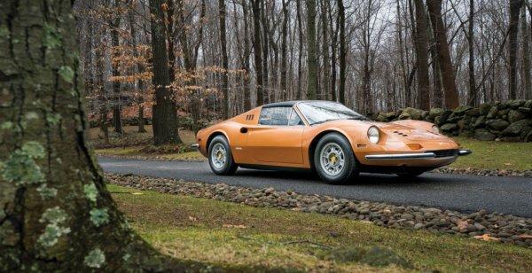 На торгах продадут необычный автомобиль Ferrari Dino 246 GTS