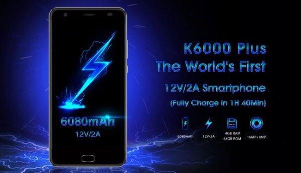 Необычный смартфон OUKITEL K6000 PLUS готов к покорению рынка