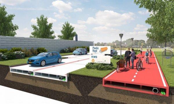 В Голландии начинают возводить пластиковые дороги