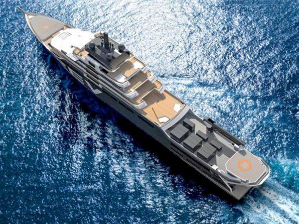 Румыны будут строить судно, длиной 182 метра, для миллиардера из Норвегии