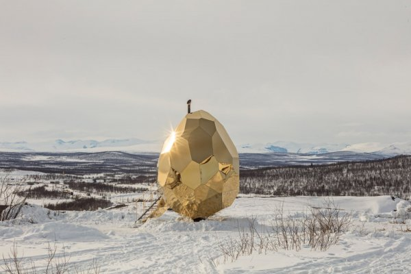 В Швеции создали уникальную сауну, работающую на солнечных панелях