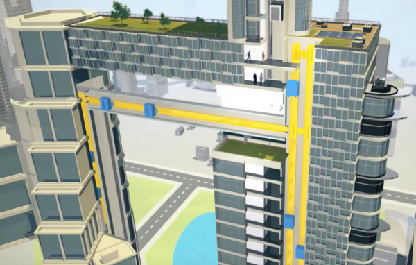 Компания ThyssenKrupp презентовала лифт, способный двигаться горизонтально