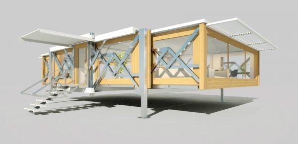 Компания Ten Fold Engineering создала мобильный дом-гармошку