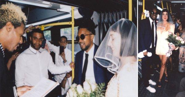 Молодожёны из США сыграли свадьбу в автобусе