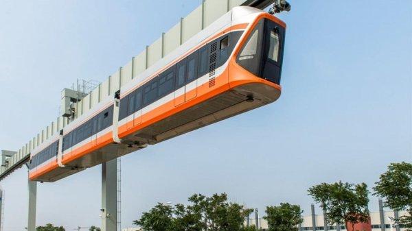 В Китае протестировали «Небесный поезд»