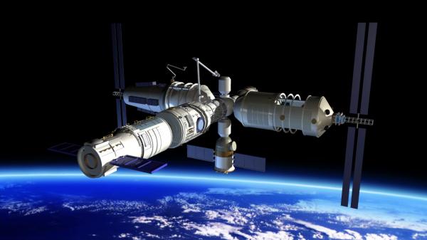 Китай строит собственную космическую станцию