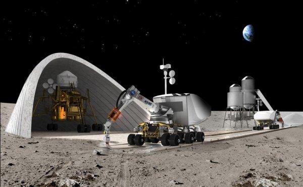 Японские специалисты разработали удалённое управление техникой для строительства базы на Луне