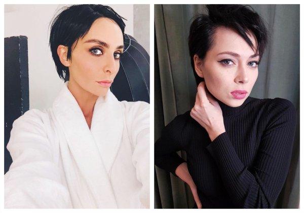 Екатерина Варнава сделала короткую стрижку и перекрасилась в черный